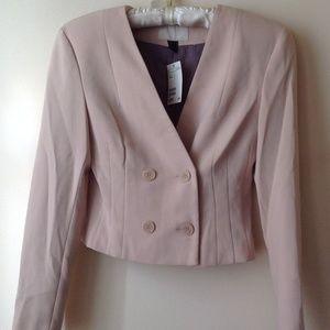 H&M Pale Pink Beige Cropped Jacket